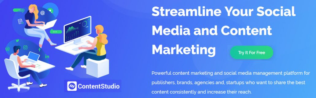 Powerful content marketing and social media management platform for publishers, brands, agencies and, startups