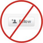 Not Following on Twitter
