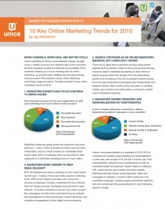 10 Online Marketing Trends for 2010