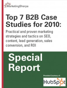 Top B2B Case Studies 2010 MarketingSherpa
