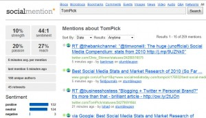 SocialMention Screenshot - TomPick