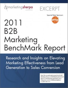 MarketingSherpa 2011 B2B Marketing Benchmark Report
