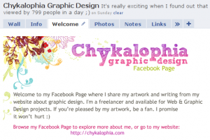 Facebook page for Chykalophia
