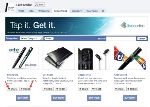Facebook LiveScribe Store