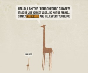 The 404 Giraffe Error Page