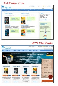 AquaSoft Landing Pages - Before and After