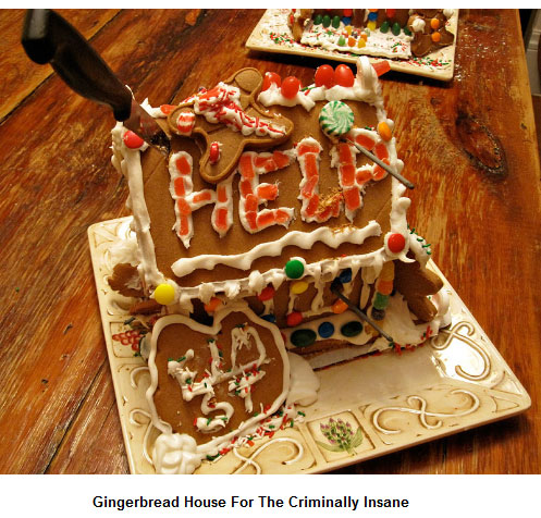 Marvelous Gingerbread House For The Criminally Insane