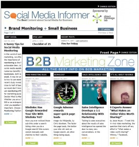Redesigns Enhance Social Media Informer and B2B Marketing Zone