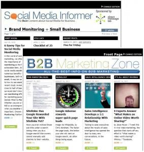 Redesigns Enhance Social Media Informer and B2B Marketing Zone