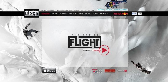 Art of Flight - Parallax Web Design Example
