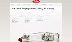 Heinz 404 Error Page