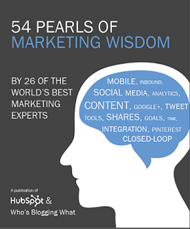 HubSpot Pearls of Marketing Wisdom Report