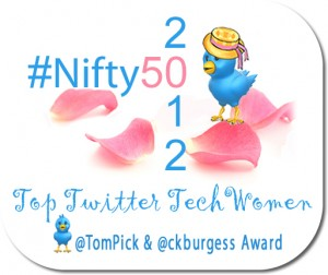 #Nifty50 Top Women in Technology on Twitter for 2012