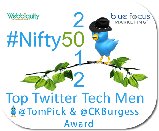 2012 #Nifty50 Top Men in Technology on Twitter