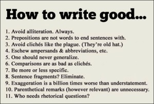 How to Write Good - Amusing but Helpful
