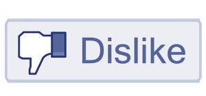 Dislike Social Media Button