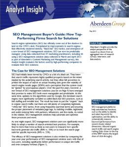 Aberdeen SEO Management Buyers Guide