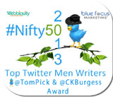 2012 #Nifty50 Top Men Writers on Twitter