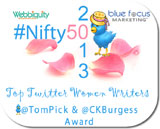 2013 #Nifty50 Top Women Writers on Twitter