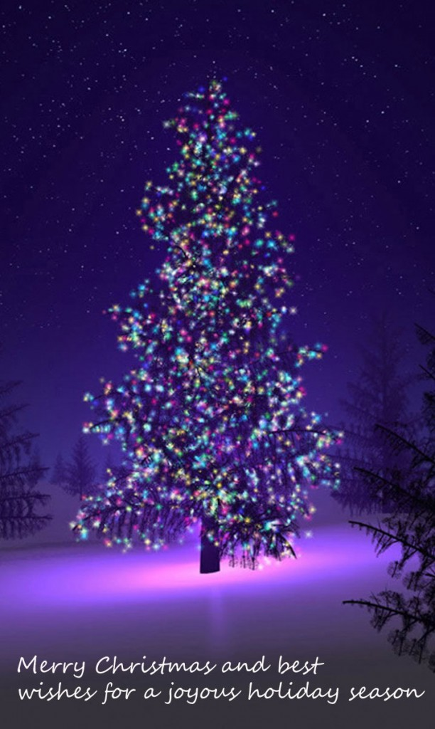 Christams tree purple