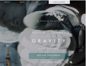 Gravity Movie Website - HTML5