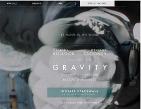 Gravity Movie Website - HTML5