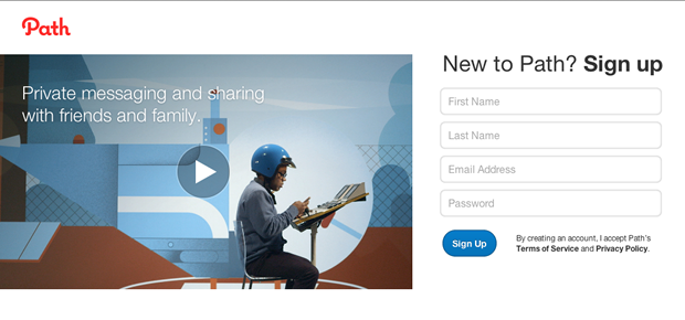Path - Video Landing Page Example