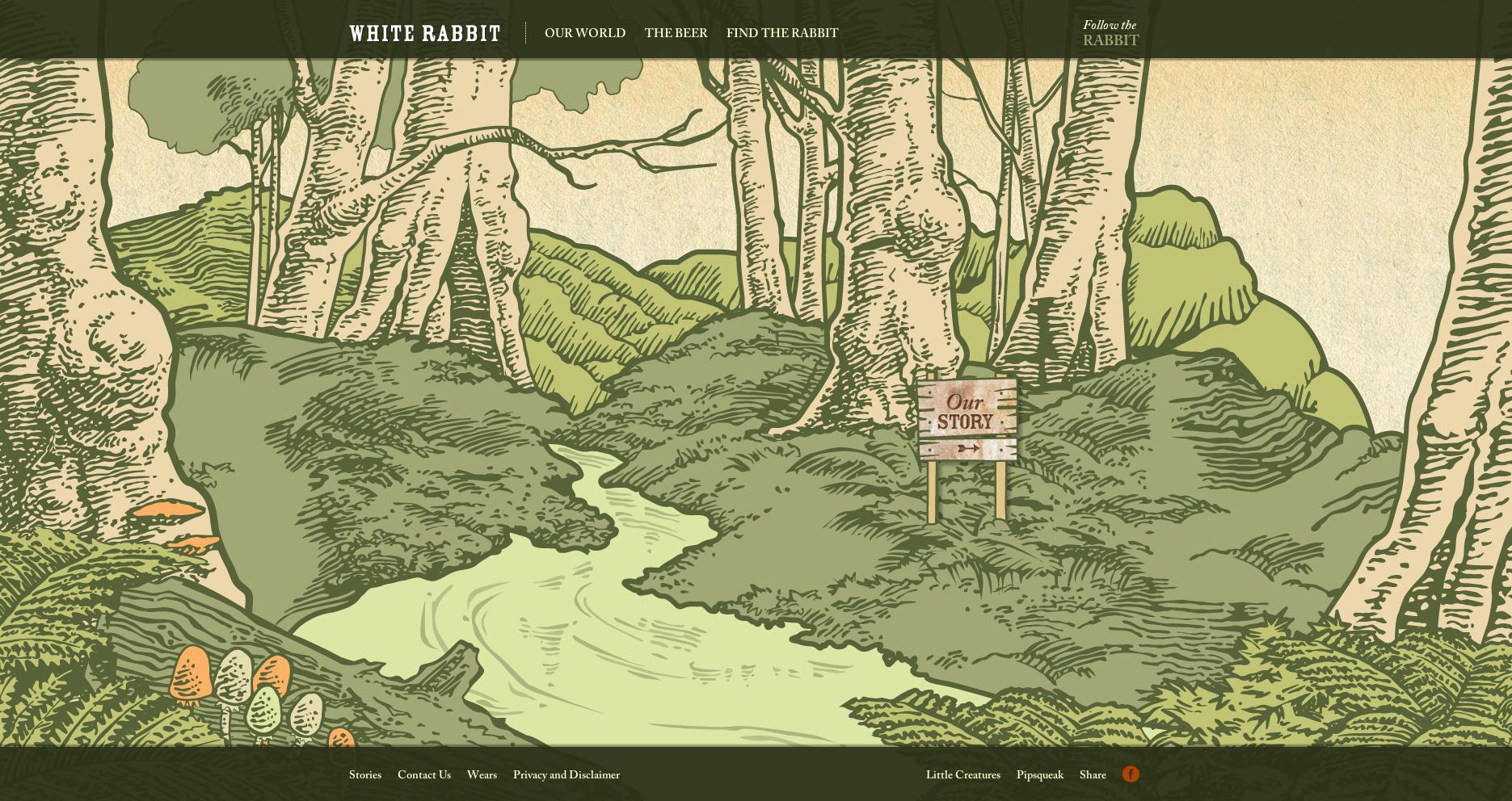 White Rabbit Bear - Creative Website