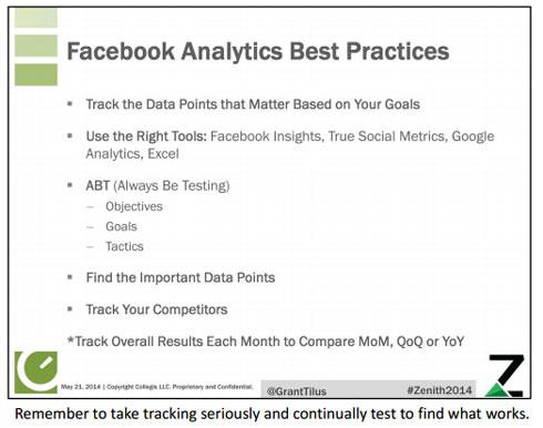 Facebook analytics best practices