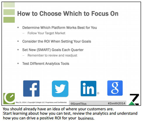 Choosing which social networks to focus on