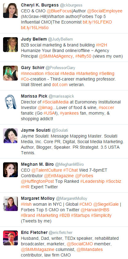 An awesome list of marketing and PR pros on Twitter