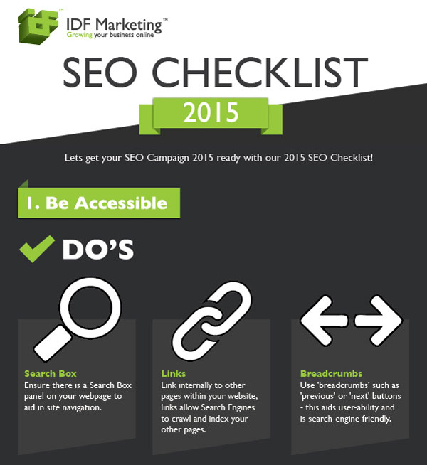 2015 SEO Checklist [Infographic] | B2B Marketing Blog