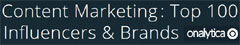 Content Marketing 2015: Top 100 Influencers & Brands