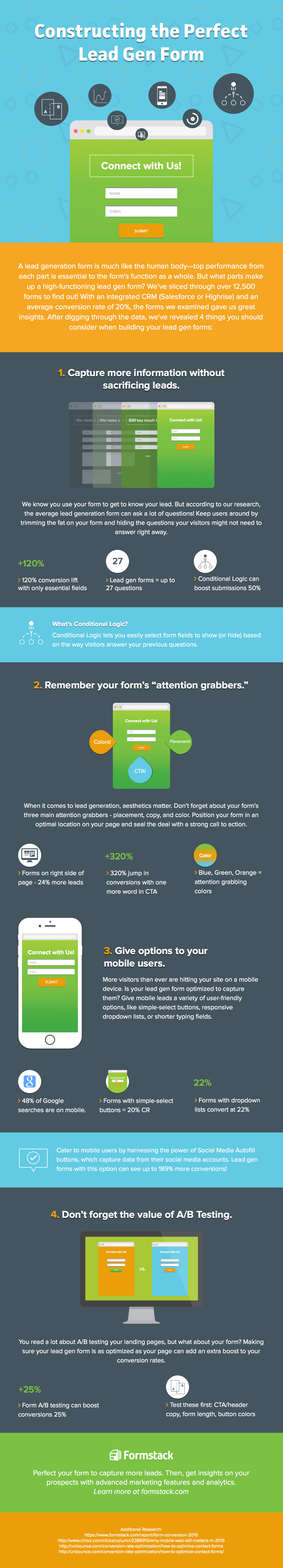 How to construct the perfect lead gen form - infographic