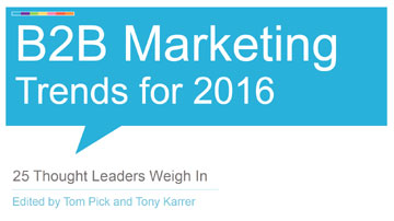 B2B Marketing Trends for 2016 eBook