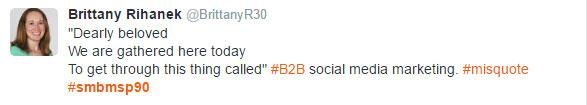 B2B marketing trends - tweet 1