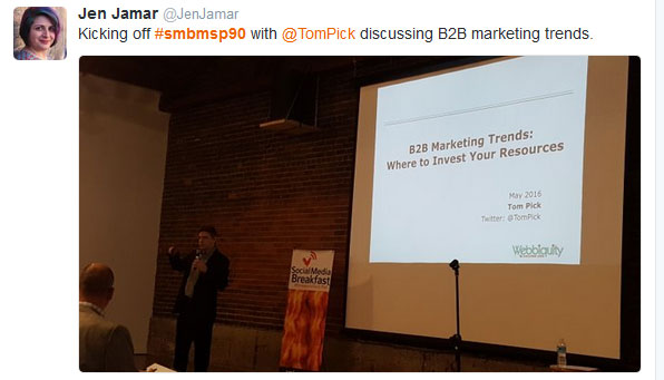B2B marketing trends - tweet 3