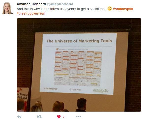 B2B marketing trends 2016 - 2020 tweet 17