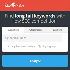 Find long tail keywords with low SEO competition - KWFinder