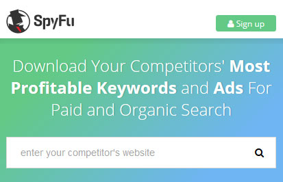 Discover your competitors' most profitable keywords with SpyFu