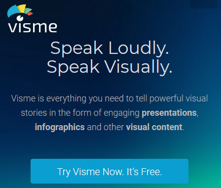 Easily create infographics, banner ads and more with Visme