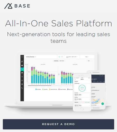 All in one sales and social CRM platform - Base CRM