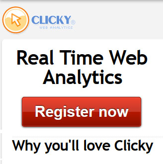 Real-time web analytics tool - Clicky