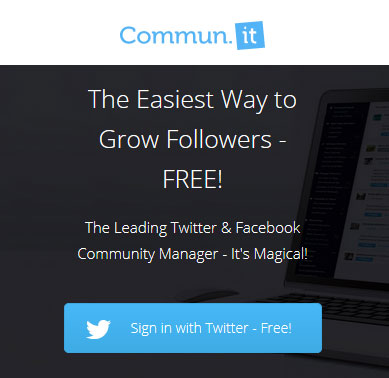 Grow your Twitter following and manage Facebook engagement - Commun.it
