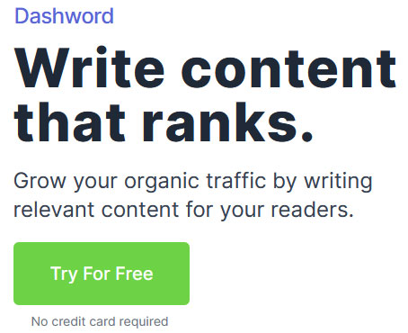 Grow your organic traffic by writing relevant content for your readers.