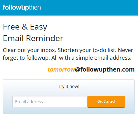 Never forget to follow up on an email message - FollowUpThen