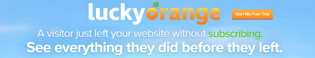Convert visitors to leads with Lucky Orange