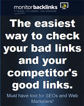 Monitor Backlinks - your website and competitors