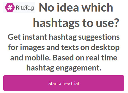 Get instant hashtag suggestions for Twitter and Instagram