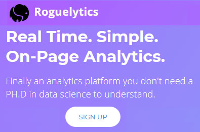 Real-time on page analytics tracking tool - Roguelytics
